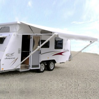 Carefree Silver Fade Roll Out Awning